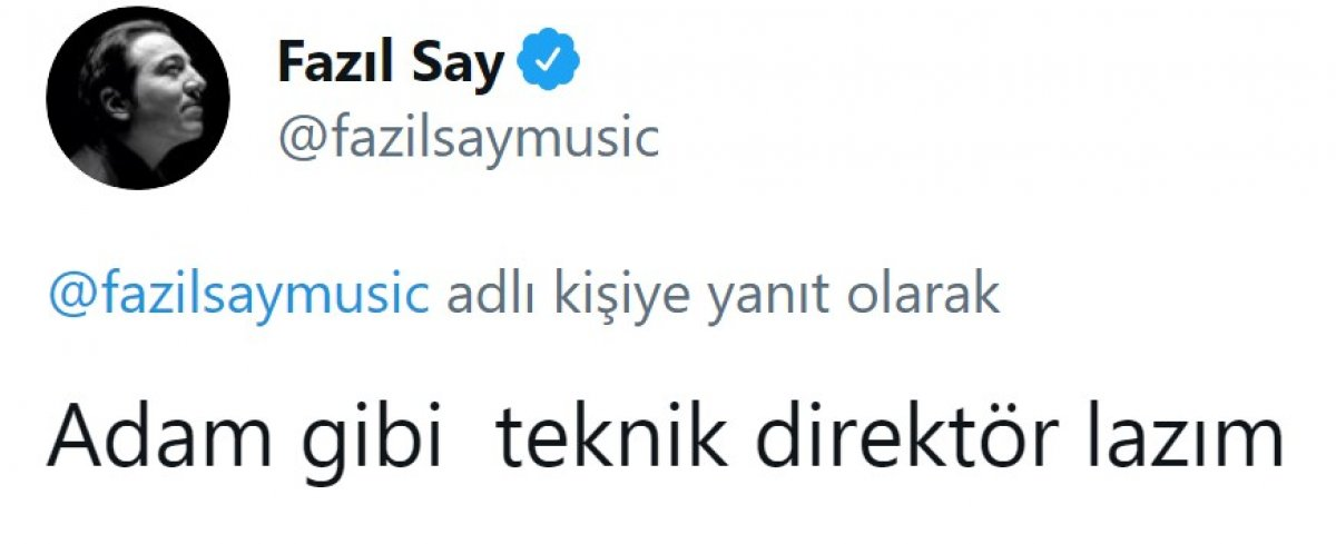 Fazıl Say, Fenerbahçe ye sitem etti #6